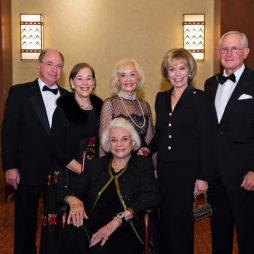 Steve and Lois Savage (Dinner Co-Chairs), Nanci Bruner (Presenting Sponsor), Sandy and Mac Magruder (Dinner Co-Chairs) with Justice Sandra Day O'Connor