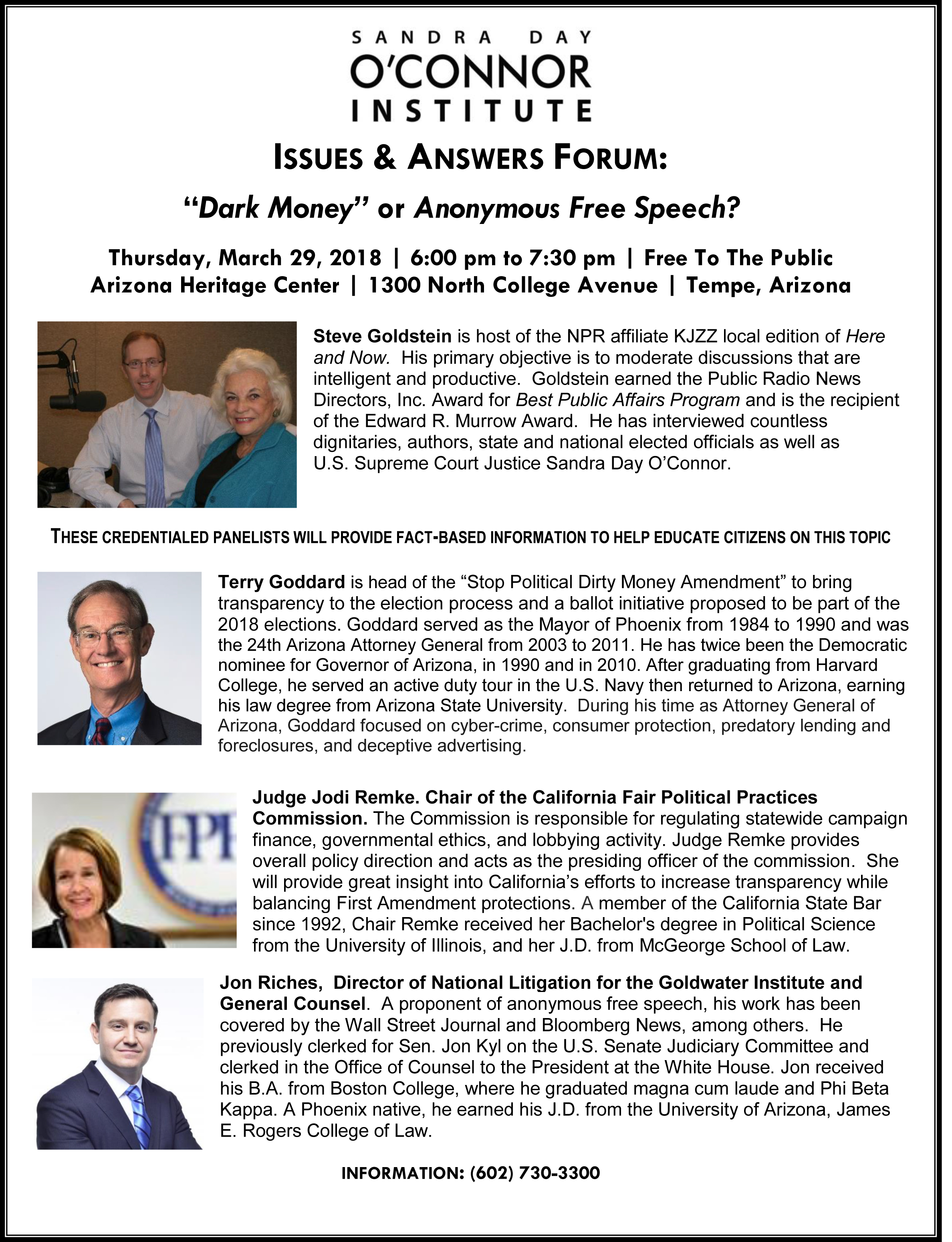 Public Policy Forum flyer picture