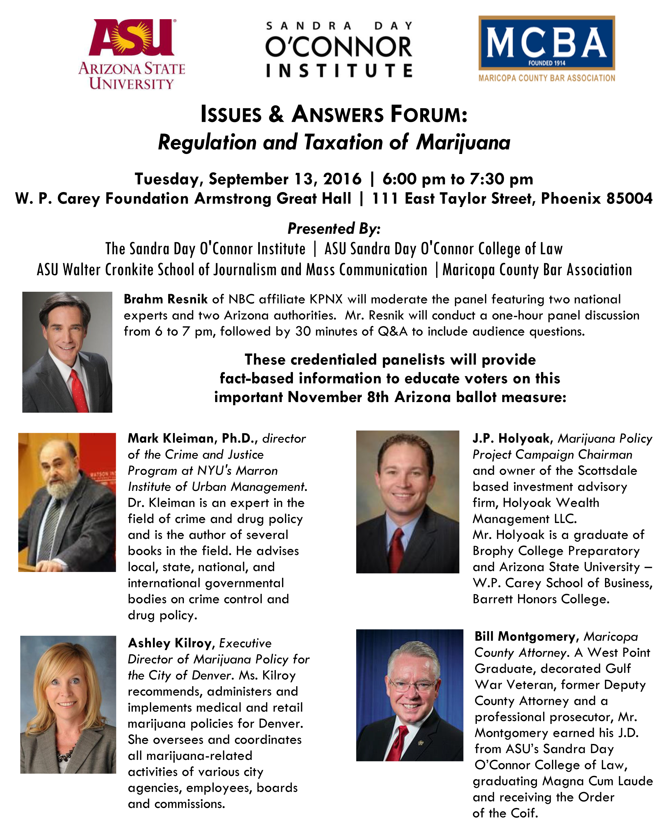 Public Policy Forum flyer from 2016